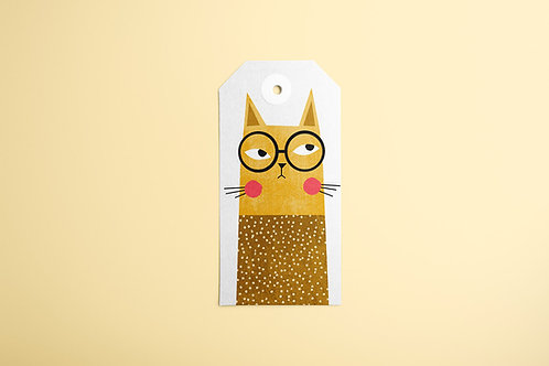 Yellow Cat Gift Tags 20/1