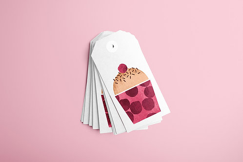 Cherry Cupcake Gift Tags 20/1