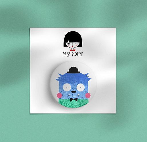 Blue Monster Pin Badge