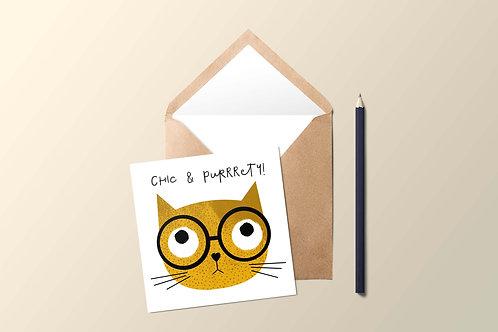 Yellow Cat Card