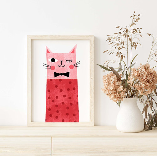 Red Dotted Cat