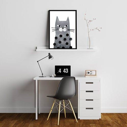 Cat with dots