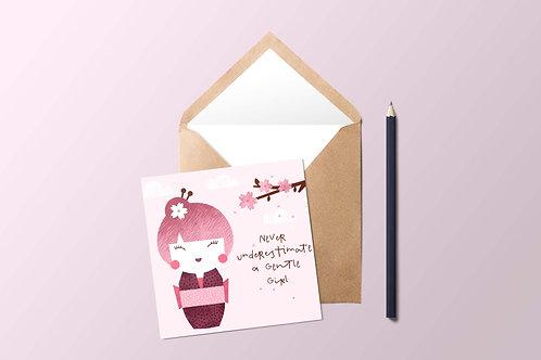Japanese Doll Card