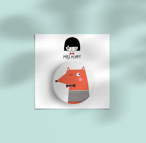 Cute Fox Pin Badge