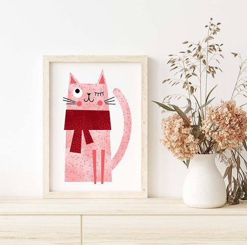 Red Winter Cat