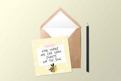 Kind Words Card