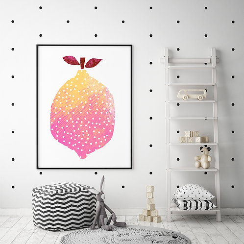 Lemon with dots