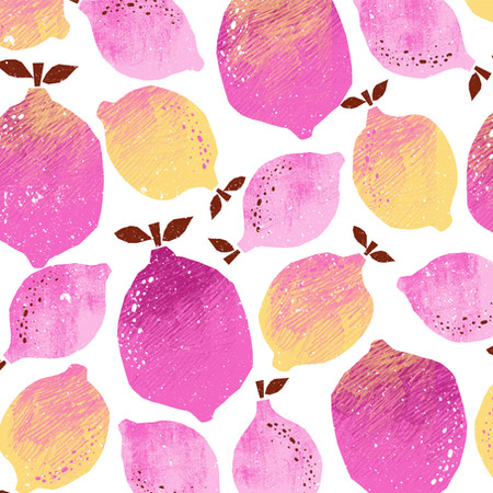 Pink Lemons Pattern