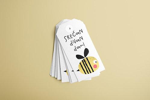 Bee BirthdayTags 20/1
