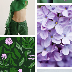 Lilac and Green