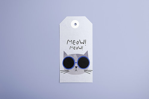 Meow Cat Gift Tags 20/1