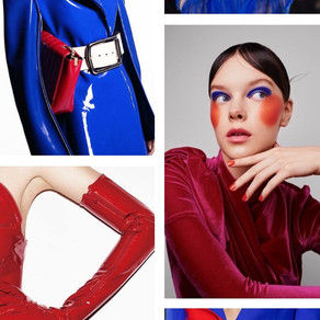Electric Blue and Red