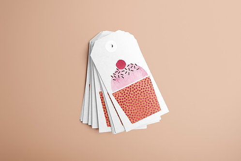 Pink Cupcake Gift Tags 20/1