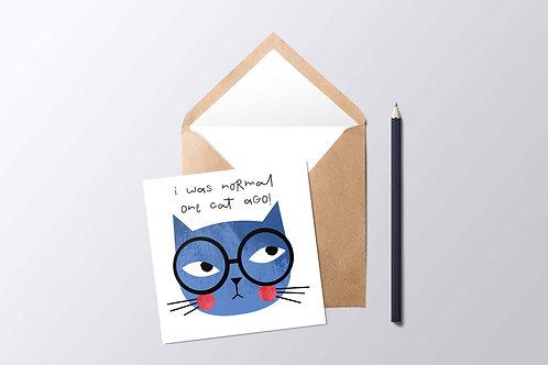 One Cat Ago Card