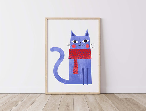 Blue Winter Cat