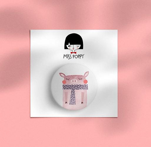 Piggy Pin Badge