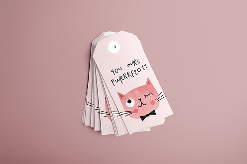 Pink Cat Gift Tags 20/1