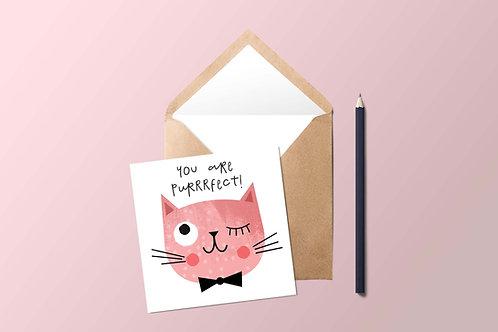 Purrrfect Cat Card