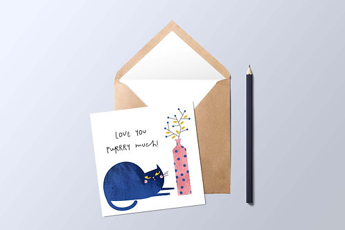 Cat and Vase Card