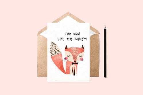 Too Cool Fox Card