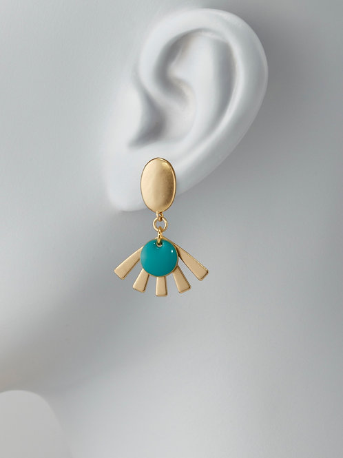 Rayon d'or turquoise