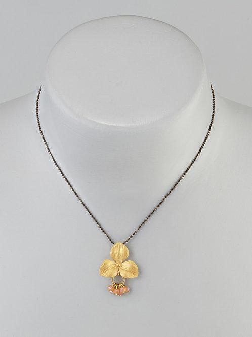 Fleur poudrée doré
