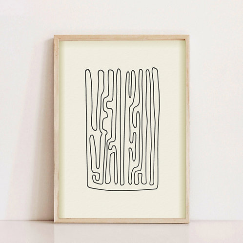Cuadro Lines II
