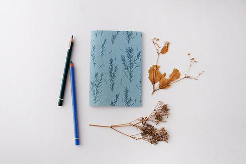 Blue Floral Notebook