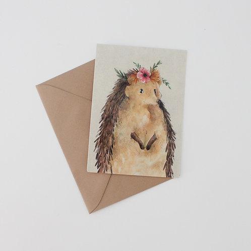 Nikki - Hedgehog Art Print