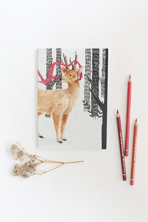 Deer with Ribbon Notebook