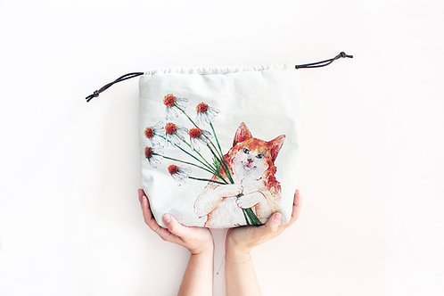 Kasper | Project Bag (Ginger Cat)