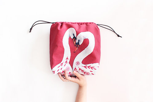 Rose & Lina | Project Bag (White Swans)