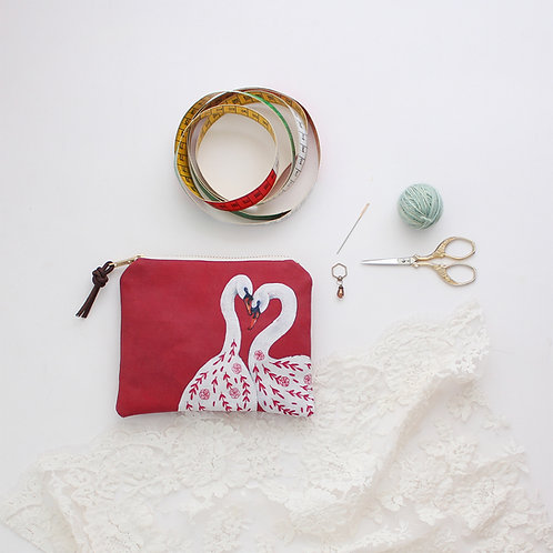 Rose & Lina | Small Zipper Pouch
