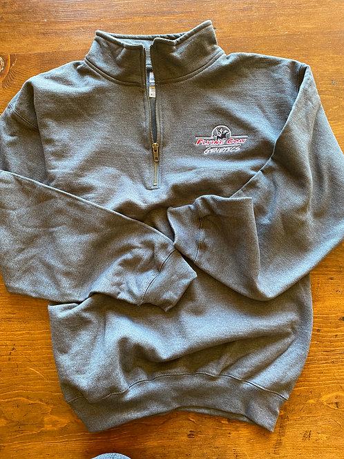 Flying Cow 1/4 Zip Sweatshirt