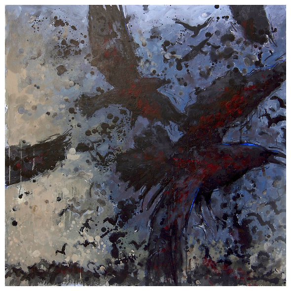 """Georges JOUSSAUME  n° 8 """" Van Gogh corbeaux gris"""""""
