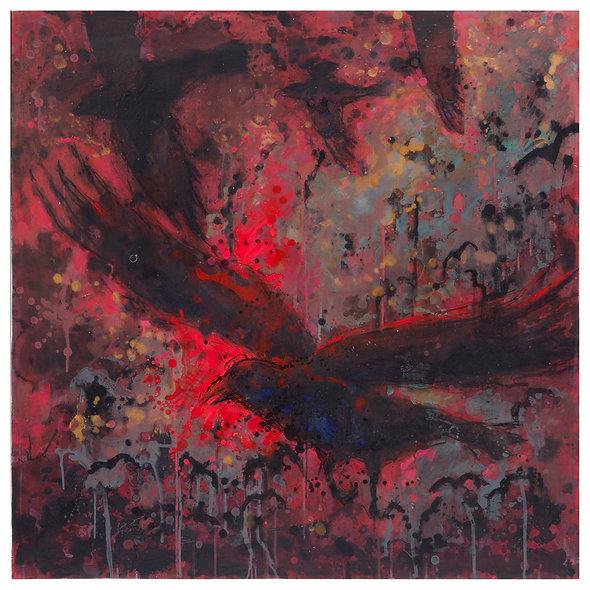 "Georges Joussaume n° 9 "" Van Gogh Corbeaux rouge"""