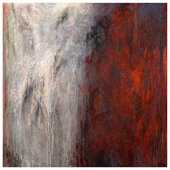 "Jocelyne BARBAS n° 12 "" montagnes celestes rouge"""