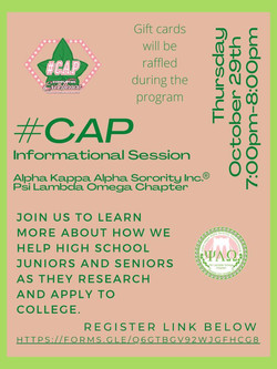 #CAP Informational Session