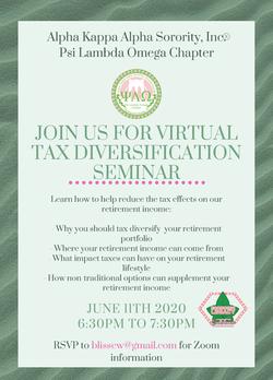 Virtual Tax Diversification Seminar