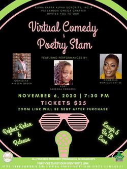Virtual Comedy & Poetry Slam