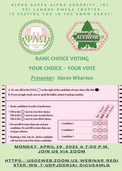 Rank Voice Voting