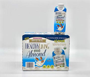 healthyliving unsweetened vanilla organic almond milk