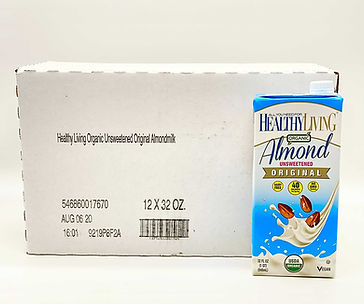 healthy living unsweetened original almond milk