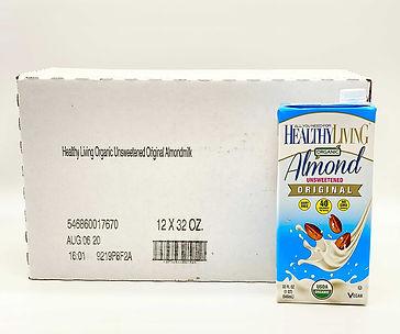 healthy living unsweetened original almond milk