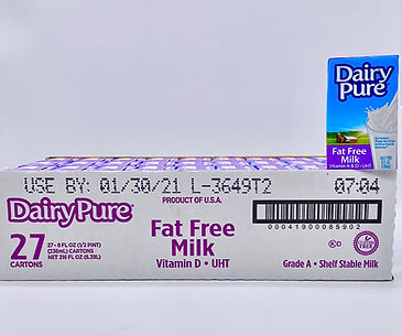 Dairy Pure Fat Free Milk 8oz