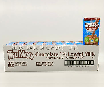 trumoo chocolate milk 1% low fat 8oz case of 27