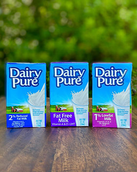 dairy pure  shelf stable milk products