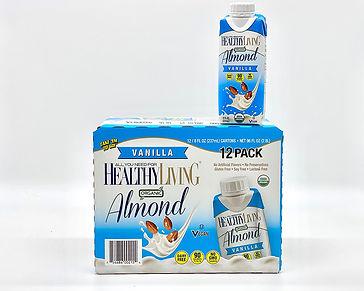healthyliving vanilla organic almond milk