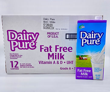 Dairy Fure Fat Free 32oz white milk