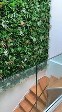 Mur végétal artificiel chez un particulier